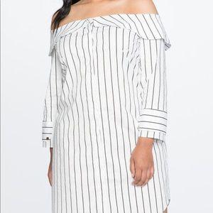 Off shoulder t shirt dress